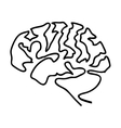 human brain icon image vector image