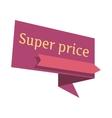 Super Price Pointer In Flat Design vector image