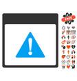 error calendar page icon with dating bonus vector image