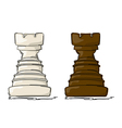 Chess rook vector image