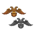 Double eagle mascot vector image vector image