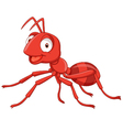 cartoon red ant vector image