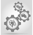 gear mechanism concept 07a vector image vector image