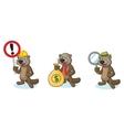 Dark Brown Sea Otter Mascot with money vector image