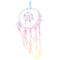 a dream catcher with vector image