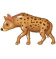 Cartoon hyena walking isolated on white background vector image