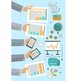 Flat design concept for the creative process vector image