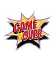 game over comic word vector image