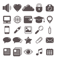 icons set for web vector image