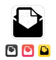 Mail with file icon vector image