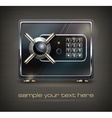 Metal safe isolated on black vector image