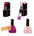 nail polish and lipstick of vector image
