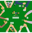 People playing in poker vector image