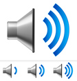 Set of speaker icons vector image