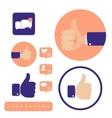 Social media Hand signs Good concept vector image
