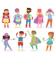 superhero kids super hero child or kid in vector image