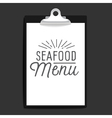 slogan object clipboard seafood menu vector image
