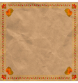 Ukrainian floral ornament on vintage paper backgr vector image