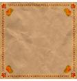 Ukrainian floral ornament on vintage paper backgr vector image vector image