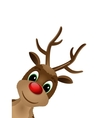Reindeer with red nose vector image