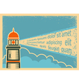 Poster with Lighthouse vector image vector image