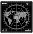 Radar screen Black and white vector image vector image