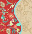 pattern floral background vector image
