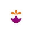 fountain splash abstract logo vector image