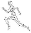 graphic man running vector image