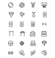 Sports Outline Icons 5 vector image