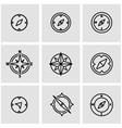 line compass icon set vector image