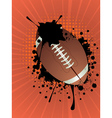 Rugby Ball on Rays Background vector image vector image