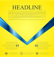 Abstract contrast yellow blue tech background vector image