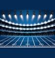 american football stadium arena with spotlights vector image