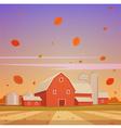 Autumn Farm Landscape vector image