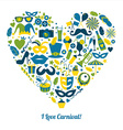 Carnival in heart vector image