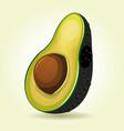 cartoon slice of avocado vector image