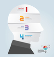 infographic Template with Head paper cut banner vector image