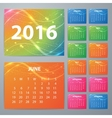 Stock Calendar for 2016 vector image