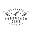 typographic emblem of longboard club vector image