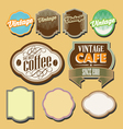 vintage retro label set vector image