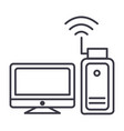 wi-fi adapter wireless network usb card vector image