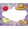 An empty cloud template vector image