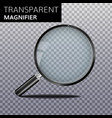 transparent realistic magnify glass vector image