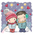cute winter vector image