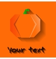 orange origami halloween pumpkin vector image