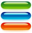 transparent web buttons vector image