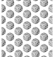 An abstract pattern of spherical objects vector image