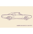 American muscle car silhouette 70s vector image
