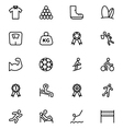 Sports Outline Icons 6 vector image